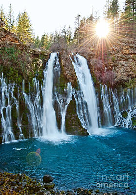 Sunburst Falls - Burney Falls Is One Of The Most Beautiful Waterfalls In California Print by Jamie Pham