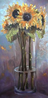 Tuscan Sunflowers Painting - Sunflower Bouquet by Donna Tuten