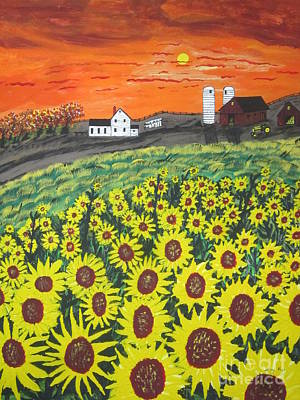 Painting - Sunflower Valley Farm by Jeffrey Koss