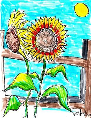 Sunflowers  Art Print by Jon Baldwin  Art