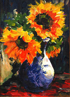Painting - Sunflowers by Michael Tieman