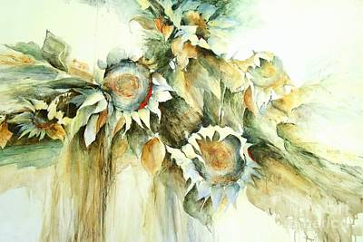 Painting - Sunflowers V by Madeleine Holzberg