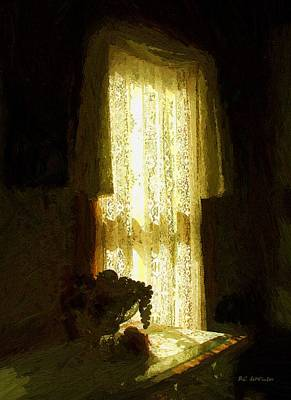 Fruit Bowl Window Painting - Sunlight Through Lace by RC deWinter