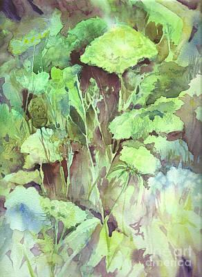 Painting - Sunlit Garden by Donna Acheson-Juillet