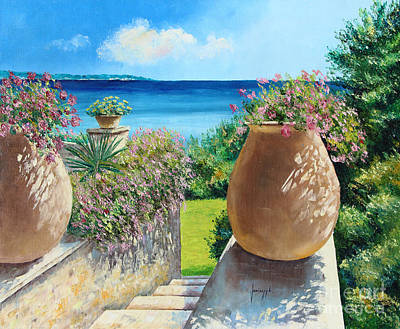 Sunny Terrace Art Print by Jean-Marc Janiaczyk