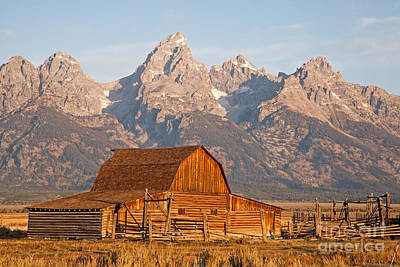 Photograph - Sunrise At Moulton Barn Grand Teton National Park by Fred Stearns