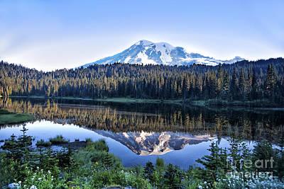 Photograph - Sunrise At Reflection Lake by Ronald Lutz