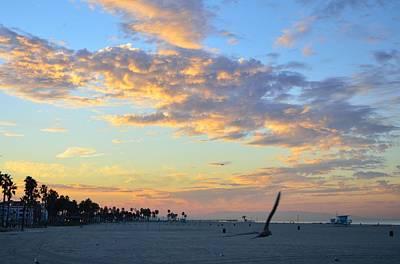 Global Design Shibori Inspired - Sunrise at Venice Beach California by Yinguo Huang