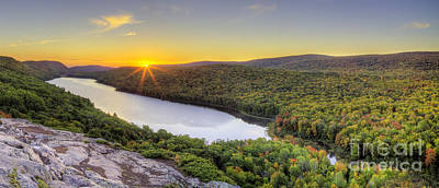 Carp Photograph - Sunrise Over Lake Of The Clouds by Twenty Two North Photography