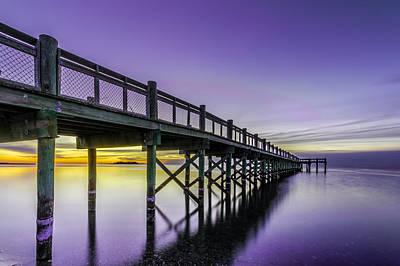 Photograph - Sunrise Under The Boardwalk by Randy Scherkenbach