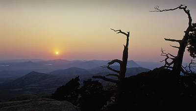 Sunset From Mt Scott Art Print
