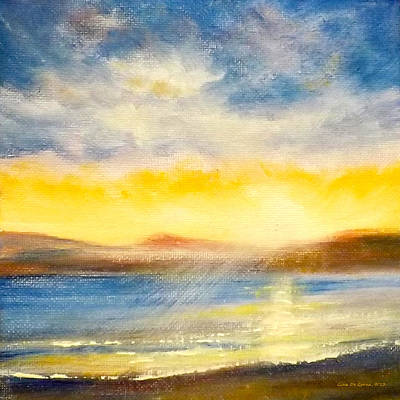 Painting - Sunset by Gina De Gorna