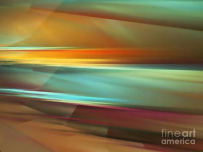 Abstract Digital Art Digital Art - Sunset by Klara Acel