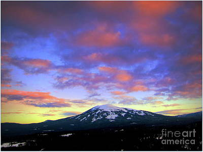 Sunset Mt. Burney Print by Irina Hays