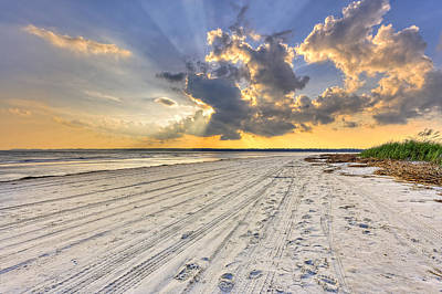 Photograph - Sunset On Hilton Head Island by Peter Lakomy
