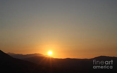 Photograph - Sunset Over Crete by David Warrington