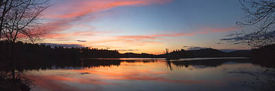 Photograph - Sunset Over Flying Pond In Vienna Maine by Keith Webber Jr