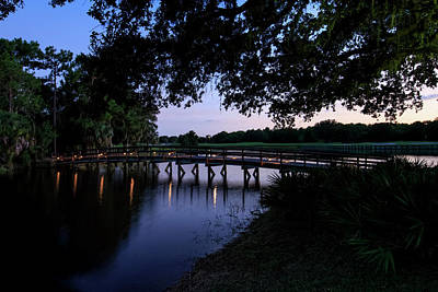 Florida Bridge Photograph - Sunset Over Golf Course In Sarasota by Panoramic Images