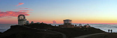 Sunset Over Haleakala Observatories Art Print by Babak Tafreshi