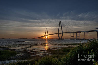 Sunset Over The Bridge Art Print