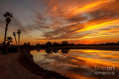 Yuma Photograph - Sunset Reflections by Robert Bales
