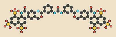 Suramin Sleeping Sickness Drug Molecule Art Print