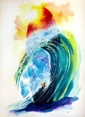 Big Wave Painting - Surfboard Visionary by Nelson Ruger