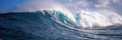 Urban Scenes Photograph - Surfer In The Sea, Maui, Hawaii, Usa by Panoramic Images