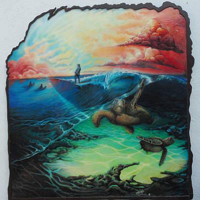 Surfing At Satellite Beach Original