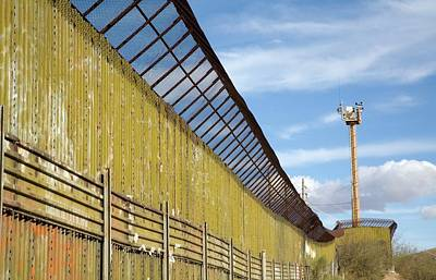 Sonora Photograph - Surveillance Tower At Us-mexico Border by Jim West