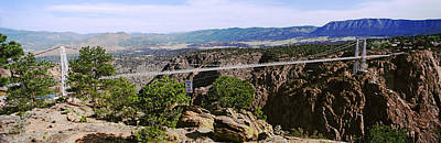 Arkansas Photograph - Suspension Bridge Across A Canyon by Panoramic Images