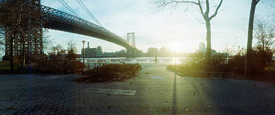 Lower East Side Photograph - Suspension Bridge Over A River by Panoramic Images