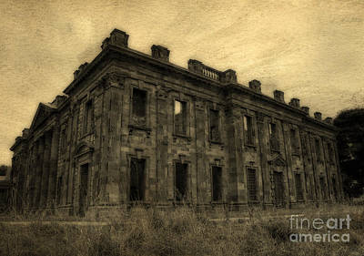 Photograph - Sutton Scarsdale Hall by David Birchall