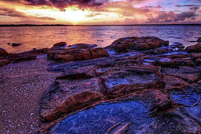 Photograph - Swan Bay Sunset by Paul Svensen