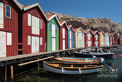 Swedish Fishing Village Print by Inge Johnsson