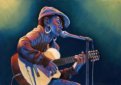 Lauryn Hill Painting - Sweet Sounds II by Debbie Patrick