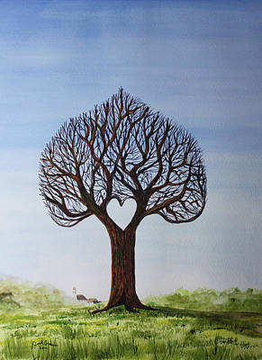 Jack Brauer Painting - Sweetheart Tree by Jack G  Brauer