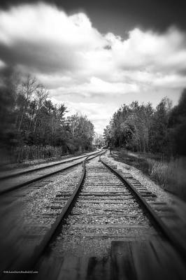 Photograph - Switching Tracks Leaving Leafing by LeeAnn McLaneGoetz McLaneGoetzStudioLLCcom