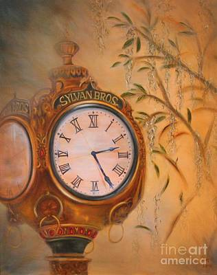 Painting - Sylvan's Clock by Kathy Lynn Goldbach