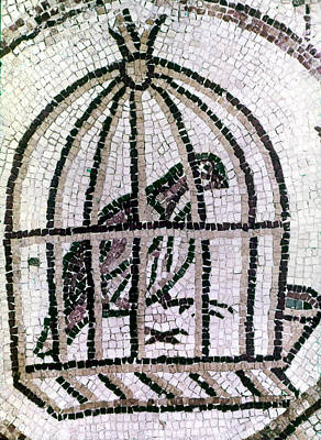 Cage Painting - Synagogue, 6th Century by Granger