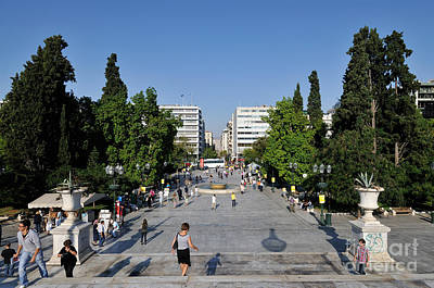 Syntagma Square In Athens Art Print by George Atsametakis