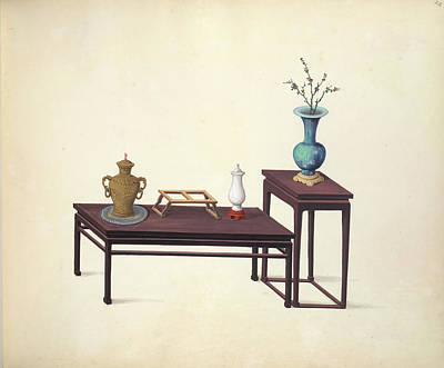 Tables And Ornaments Art Print by British Library
