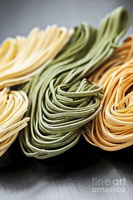 Spinach Photograph - Tagliolini Pasta by Elena Elisseeva
