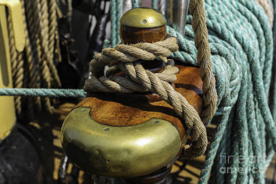 Photograph - Tall Ship Rigging by Dale Powell