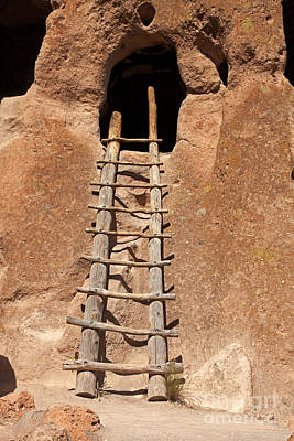 Photograph - Talus House Front Door Bandelier National Monument by Fred Stearns