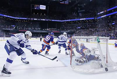 Stanley Cup Playoffs Photograph - Tampa Bay Lightning V New York by Bruce Bennett
