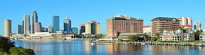 Tampa Panorama Art Print by Frozen in Time Fine Art Photography