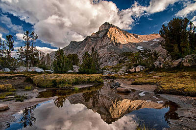 Mountain Royalty-Free and Rights-Managed Images - Tarn Reflection by Cat Connor