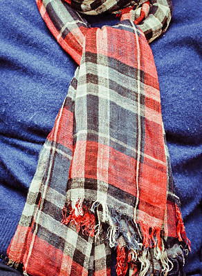 Tartan Scarf Art Print by Tom Gowanlock