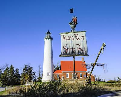 Photograph - Tawas Point Lighthouse East Tawas Michigan by LeeAnn McLaneGoetz McLaneGoetzStudioLLCcom